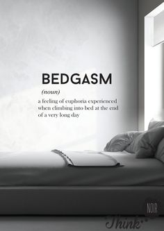 Quote Wall Decal ''Bedgasm''/ Home Wall Art / by ThinkNoir on Etsy