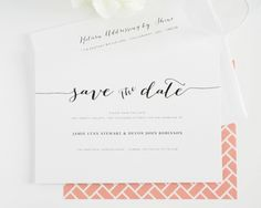 Flowing Script Save the Date Cards - Save the Date Cards by Shine