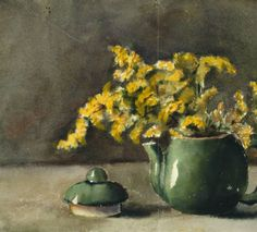 Untitled (Teapot and Flowers) :: Drawings, Paintings & Sculpture