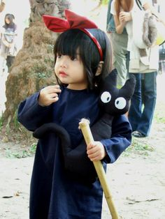 Kiki delivery service, little cosplayer! <3 if i ever have a child they will wear alllll costume i can find or make of ghibli films. #baby