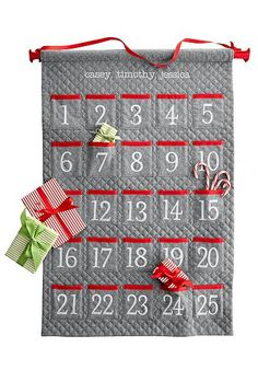 Quilted advent calendar #personalized