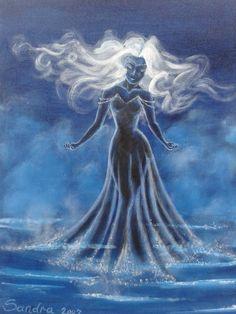 schilderij water nimf acryl op canvas
