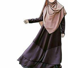 JANGAN IRI SAMA MANUSIA YANG CUMAN PENTINGIN DUNIA TAPI IRI LAH SAMA ORANG YANG MENTINGIN DUNIA AKHIRAT. -NAI_LA Hijabi Girl, Girl Hijab, Hijab Outfit, Muslim Girls, Muslim Couples, Muslim Women, Hijab Drawing, Lovely Girl Image, Islamic Cartoon