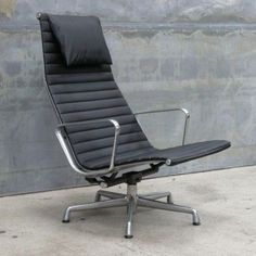Minneapolis: Eames Aluminum Lounger - Black Leather - Reduced Price! $750 - http://furnishlyst.com/listings/424308