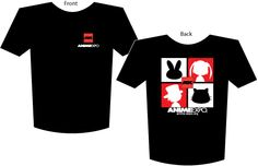 """Anime Expo Merchandise Store - """"AX - Silhouette"""" Black Tee, $12.00 (http://www.animeexpostore.com/products/""""AX-%2d-Silhouette""""-Black-Tee.html)"""