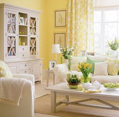 buttery yellow and white