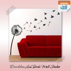 Dandelion & Birds Wall #Sticker  Make a great feature on the #wall. It makes a great addition to your home or add a individual touch to your decor.  (Image copyrights belong to their respective owners)