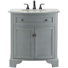 Charmant Home Decorators Collection Hamilton 31 In. W X 22 In. D Bath Vanity In Grey  With Granite Vanity Top In Grey With White Basin. Downstairs BathroomHome  Depot ...