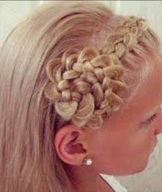 I Love This Flower Girl Hair Idea