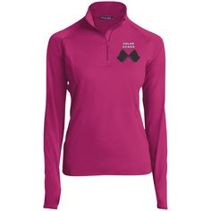 Sport-Tek® Ladies Sport-Wick® Stretch 1/2-Zip Pullover – Purposely Designed