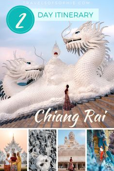 Looking for things to do in Chiang Rai? Discover how to spend two days in Chiang Rai, northern Thailand, including the White Temple and Blue Temple. Thailand Travel Guide, Visit Thailand, Asia Travel, Japan Travel, Top Travel Destinations, Places To Travel, White Temple, Northern Thailand, Travel Guides