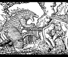 9 Pics Of Godzilla 2014 Coloring Pages