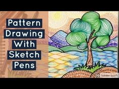 Pattern Drawing tutorial with SKETCH PEN || Line art || Line drawing || ...