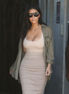 Reality star Kim Kardashian is spotted at a studio in Van Nuys, California on July 11, 2016. Kim's mobile game has amassed 45 million dollars for the reality star.