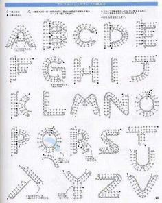 Graficos de letras a crochet