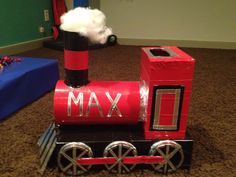 Train Valentine Box!! Perfect my husband is a conductor <3