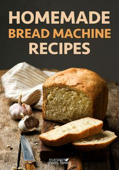 Easy Homemade Bread Machine Recipes Here are some of my favorite homemade bread machine recipes you can make in your bread maker this week! Healthy Bread Recipes, Best Bread Recipe, Bread Starter, Bread Machine Recipes, Easy Bread, Sweet Bread, Bread Baking, Fun Desserts, The Best