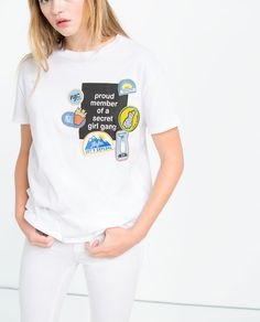Image 5 of T-SHIRT WITH PATCHES from Zara