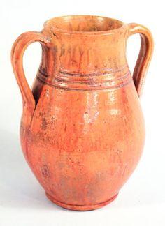 "Fine North Carolina Art Pottery Vase attributed to C.R. Auman, early 20th century. H9 1/8"" W7 5/8"""