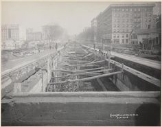 Broadway between 95th and 96th Street [Subway construction].