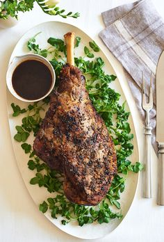If you haven't cooked a whole leg of lamb before, here is the place to start. This is not a revolutionary recipe, but slathering on butter and (take our word for it) anchovies makes this version truly essential. It is excellent for the Easter feast — lamb has ancient associations with springtime, and it pairs well with sharp spring vegetables like asparagus, dandelion greens and artichokes. (Photo: Melina Hammer for The New York Times)
