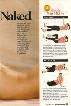 Tracy Anderson Method in Cosmopolitan; Fit in 6 minutes column Tracy Anderson Workout, Tracy Anderson Method, Fitness Tips, Fitness Motivation, Health Fitness, Fitness Fun, Fitness Goals, Routine, Workout Bauch