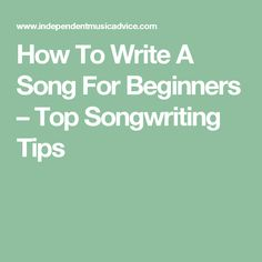 how do i write a song Listening to your favorite music might be an enjoyable pastime, but analyzing a song lets you apply what you're learning in english class to a favorite composition figurative language, tone and theme are just a few literary devices you can practice identifying as you write about music.