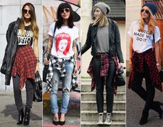 Mais exemplos do look grunge.