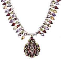 Gifts For Her – Precious Cut Gemstone Fine 925 Necklace Jewelry – a unique product by IndianCraftPalace on DaWanda