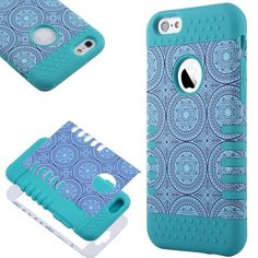 Amazon.com: iPhone 6 Case(4.7 inch), ULAK Case for iPhone 6 4.7 inch Hybrid Hard PC+ Soft Silicone Combo High Impact Shockproof Cover for iPhone 6 4.7 inch (Blue circle/Black): Cell Phones & Accessories