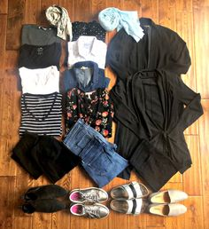 2 Week Travel Wardrobe for Spring. This wardrobe accommodates a wide range of temperatures and activities. Details at une femme d'un certain age.