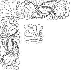 Shop | Category: Feathers / Pearls / curls | Product: SP 4 Paisley feathers Bdr Crnr