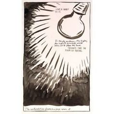 Raymond Pettibon, No Title (Light a Candle), 1987, pen and ink on paper, Dallas Museum of Art, Lay Family Acquisition Fund