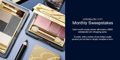 Receive a $350 shopping spree from Estée Lauder. To enter, write a review of any Estée Lauder product you've tried or simply complete the entry form. Shopping Spree, Estee Lauder, Writing, Beauty, Beleza, Composition, Letter