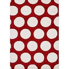Handmade Red New Zealand Wool Blend Rug (8' x 10')
