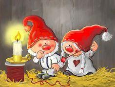 Новогодние иллюстрации от Asa Gustafsson .