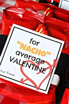 Does your Valentine love nachos? Maybe attach this to a plate of nachos!