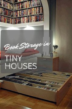 How do people who live in tiny houses store their books? Check out these smart solutions.