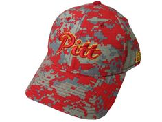 Pitt Script Camo Hat - Red/Grey