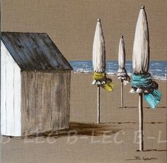 Discover recipes, home ideas, style inspiration and other ideas to try. Beach Huts Art, Beach Art, Acrylic Painting Tutorials, Building Art, Mini Canvas, Drawing Techniques, Painting Inspiration, Painted Rocks, Landscape Paintings