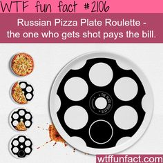 Russian Pizza Plate Roulette - WTF fun facts This would be awesome in a pizza joint!