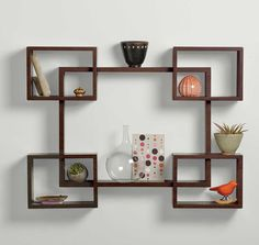 The newest catalog of corner wall shelves designs for modern home interior wall decoration latest trends in wooden wall shelf design as home interior decor trends in Indian houses Small Wall Shelf, Unique Wall Shelves, Wooden Wall Shelves, Wall Shelf Decor, Wall Bookshelves, Bookshelf Design, Wall Shelves Design, Pallet Shelves, Floating Shelves
