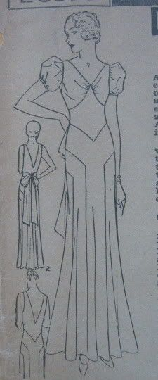 art deco dress patterns | Dress pattern