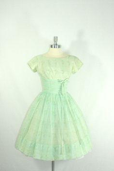 I love this seller. 1950's Vintage Dress  The BEST Mint Green by VintageFrocksOfFancy, $240.00