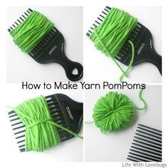 How to Make Yarn PomPoms