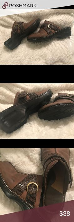 Born Concepts slide on mules. Size 10 Brown slide on mules, Women's size 10. A few scuff marks on toes as seen in pic. Worn very little. Lots of life left!! Born Concepts Shoes Mules & Clogs
