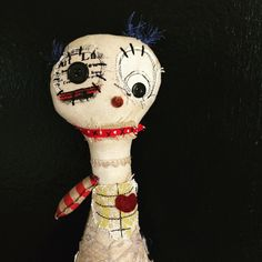 Rag doll, monster plush, primitive doll, art doll, stuffed toy, monster doll, creepy cute, stuffed creature, cloth doll, monster toy