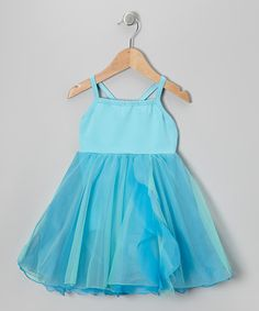 Take a look at this Blue Flow Skirted Leotard - Girls by Butterfly TREASURES on #zulily today!