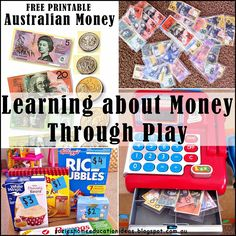 Suzie's Home Education Ideas: Learning about Money through play