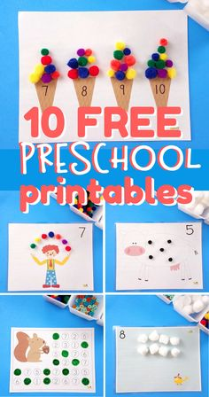 Get 10 free math printables for toddlers and preschoolers! Sign up for our newsletter to get these activities and then more each week!